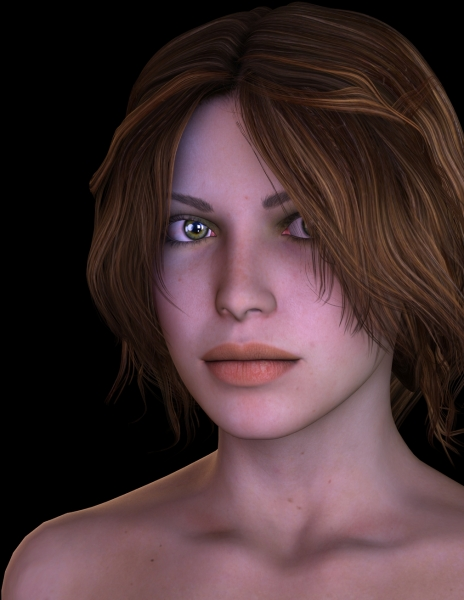 DeviantArt IamUman RealisticLightsScene with hair default hawthorne-hair render by diana roald 06-14