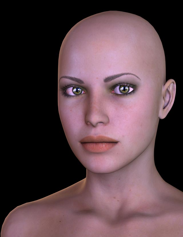 DeviantArt IamUman Tut Realistic Lights Without Hair by Diana Roald 12.06.14