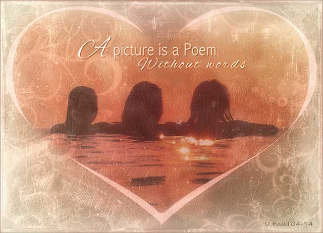 A Picture Is a Poem, made by Diana Roald 04-14