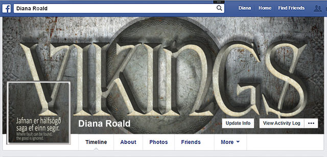 Diana Roald Facebook cover/profile - Viking 03 16