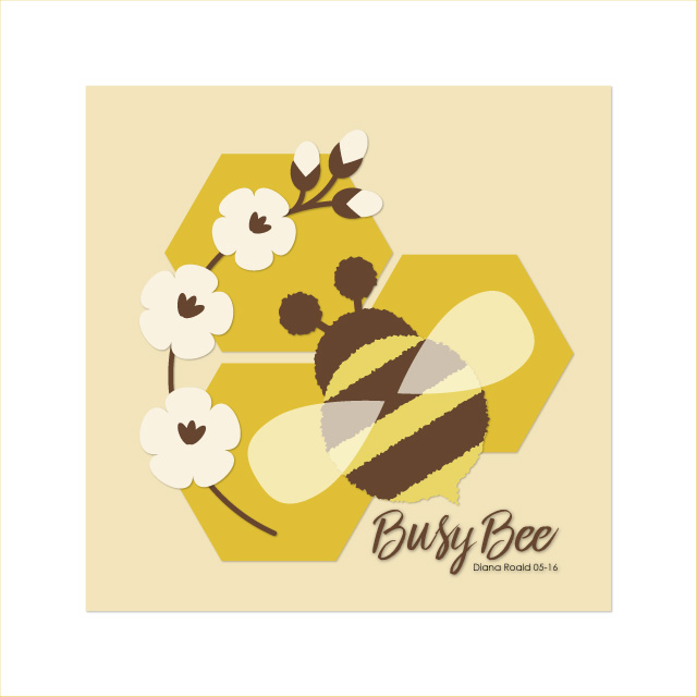 Create a Honeybee on a Honeycomb by Diana Roald 05-16