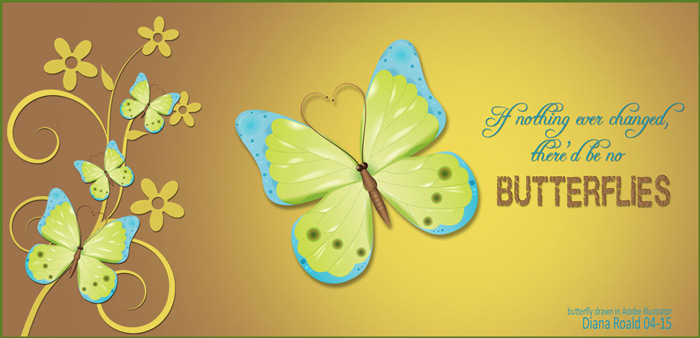 How to Make an Attractive Vector Butterfly - made by Diana Roald 05-15
