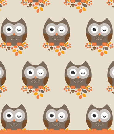 Autumnal Owl and Pattern