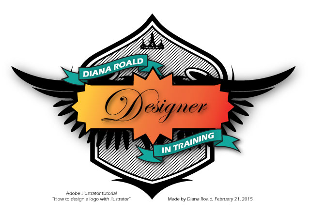 Design logo drawn in Illustrator - made by Diana Roald 02-15